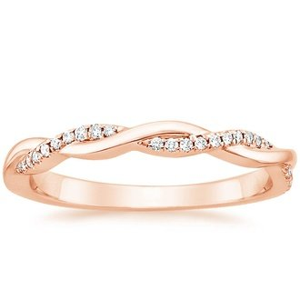 petite twisted vine diamond ring 1 8 ct tw