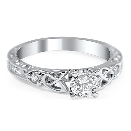 Custom Celtic Claddagh Diamond Ring Brilliant Earth