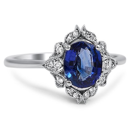 Modern Sapphire Vintage Ring Catori Brilliant Earth