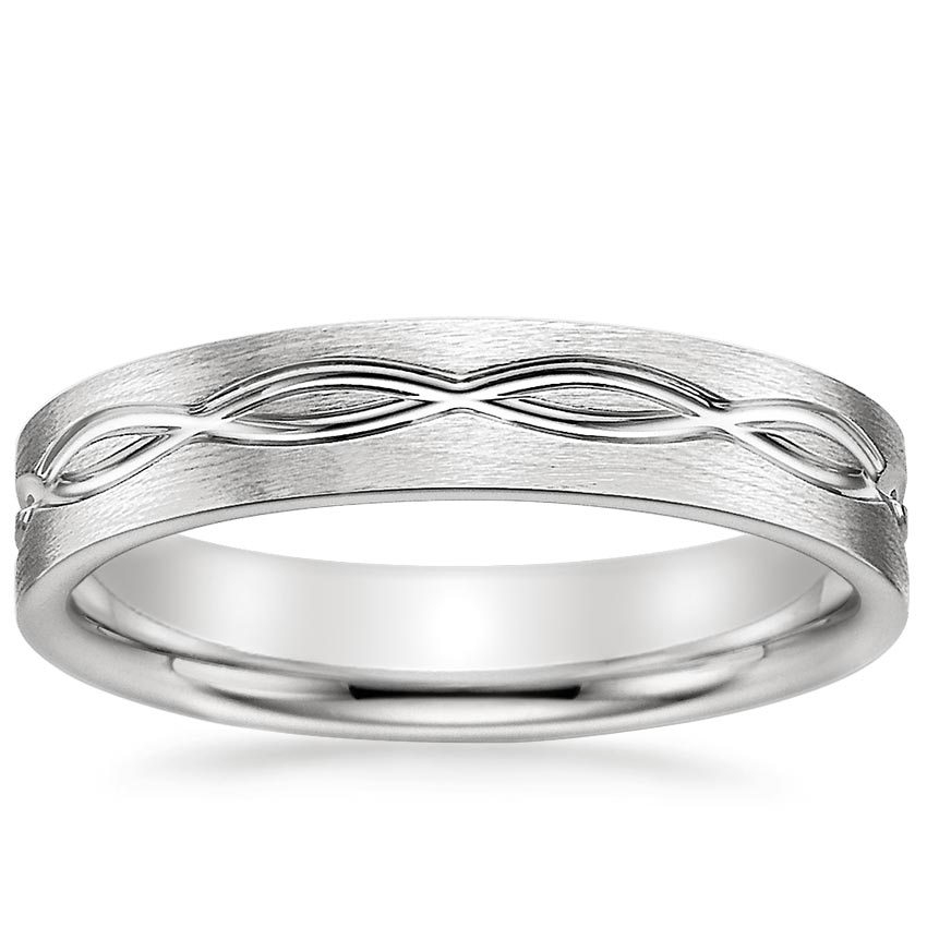 Infinity Mens Wedding Ring Infinity Scroll Brilliant