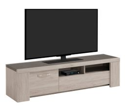 meuble tv l 183 cm malone chene gris