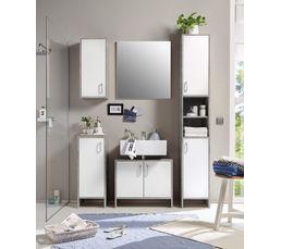meubles de salle de bain 5 meubles blanc et gris beton madere