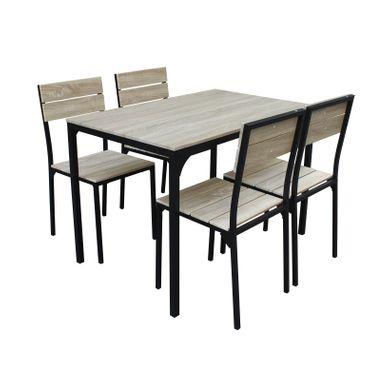 table a manger avec chaises london ensemble table a manger de 6 a 8 personnes l160x i90 cm 6 chaises blanc l 46 x p 44 5