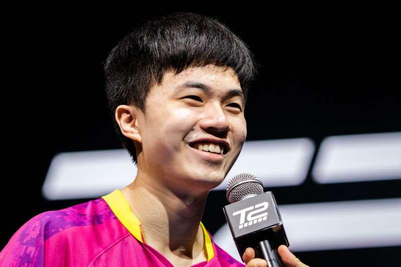林昀儒在T2钻石桌球赛新加坡站男单决赛不敌中国好手许昕,夺下亚军。 (图片取自T2 Diamond脸书粉丝团)