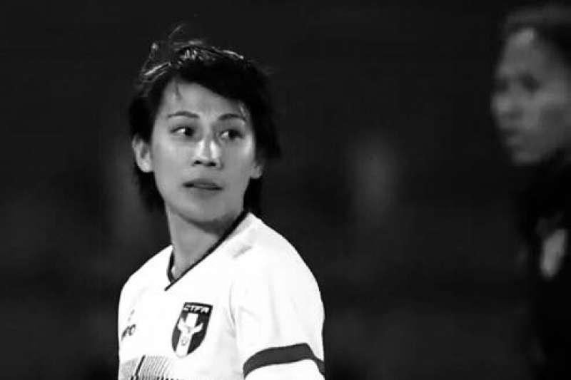 中华女足老将曾淑娥在脸书砲轰日籍教练。(取自曾淑娥粉丝页)
