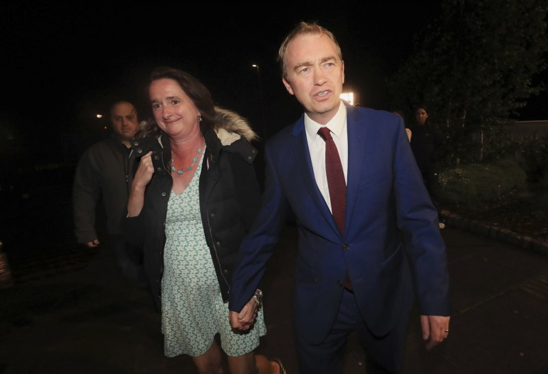2017年6月8日英國國會大選,自由民主黨(Liberal Democrat)在黨魁法倫(Tim Farron)領導下席次有進步(AP)