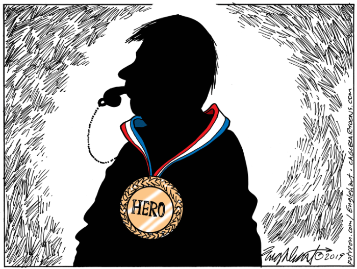 Editorial Cartoon: Whistleblower