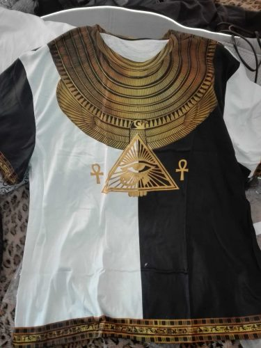 3D Printed Horus Egyptian God Black And White Clothes TA0175 photo review