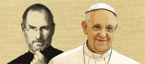 스티브 잡스와 프란치스코 교황