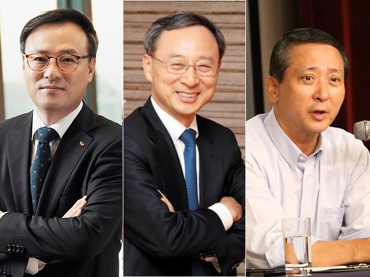 (왼쪽부터) 장동현 SK텔레콤 사장, 황창규 KT 회장, 권영수 LG유플러스 부회장 / 각사 제공