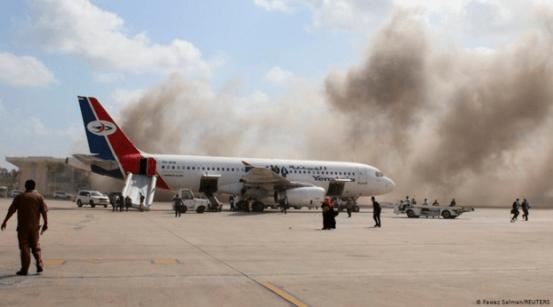 예멘 공항 폭발과 총격으로 수십명이 사망 …