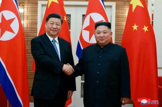 김정은, 시진핑, 사무 총장 취임을 축하합니다.