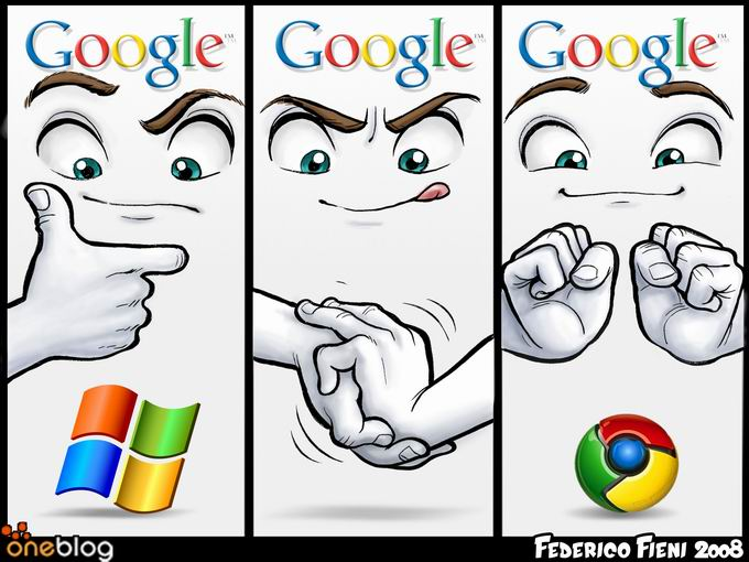 Chrome Logo Evolution (c) F. Fieni