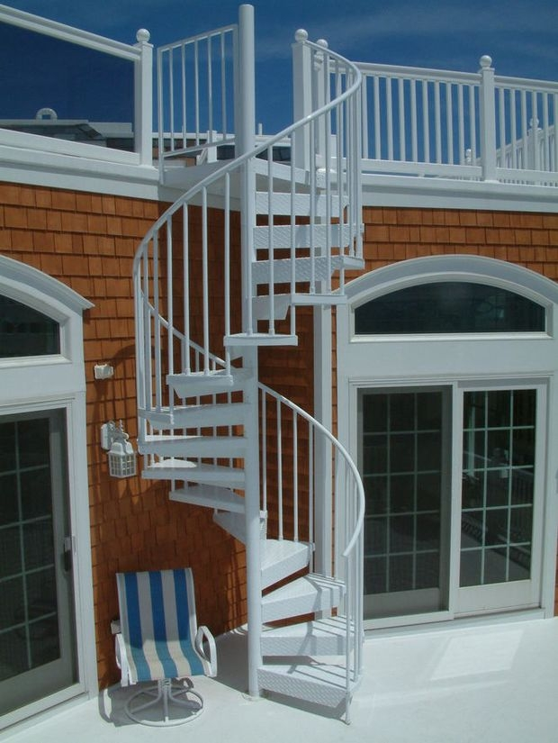 Exterior Spiral Staircases Look Stunning And Save Space In | Outdoor Spiral Staircase Cost