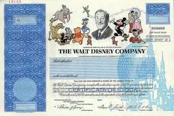 Disney Stock Certificates Replaced By Digital Certificates