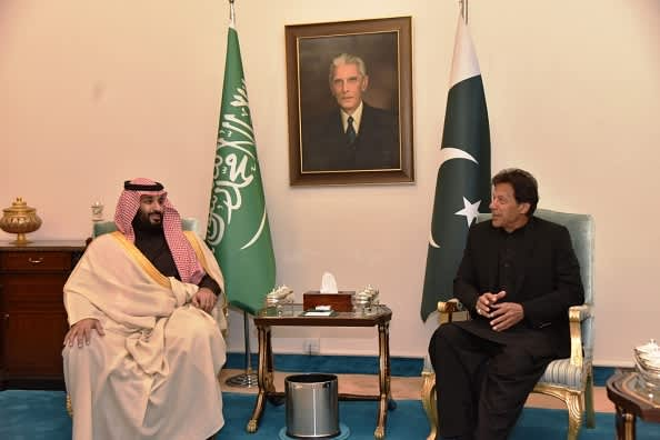 190306 MBS Saudi in Pakistan Imran Khan EU