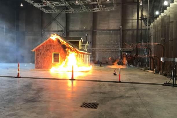 CNBC: Test house on fire