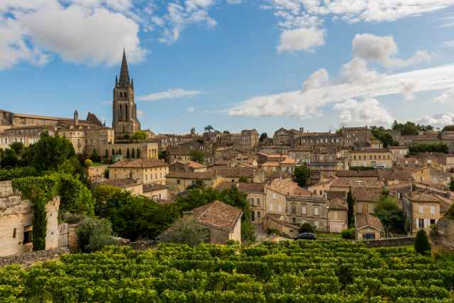 The medieval town of St. Emilion in southwestern France.