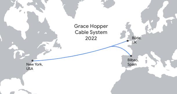 Google Grace Hopper cable map