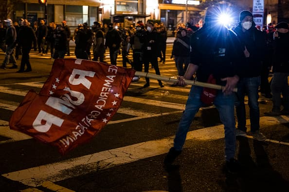 At least 20 arrested as pro- and anti-Trump protesters clash in Washington  | Lenexweb
