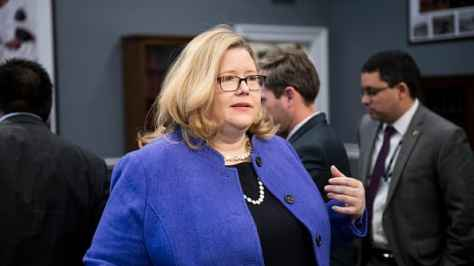 "GSA Administrator Emily Murphy arrives to tesitfy during the House Appropriations Subcommittee on Financial Services and General Government Subcommittee hearing on ""GSA (General Services Administration) Oversight Hearing"" on Wednesday, March 13, 2019."
