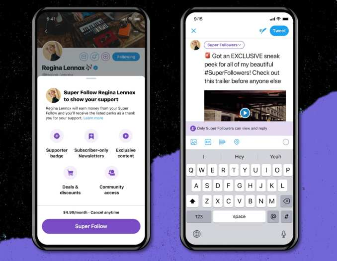 Twitter shows possible updates, including Super Follow subscriptions