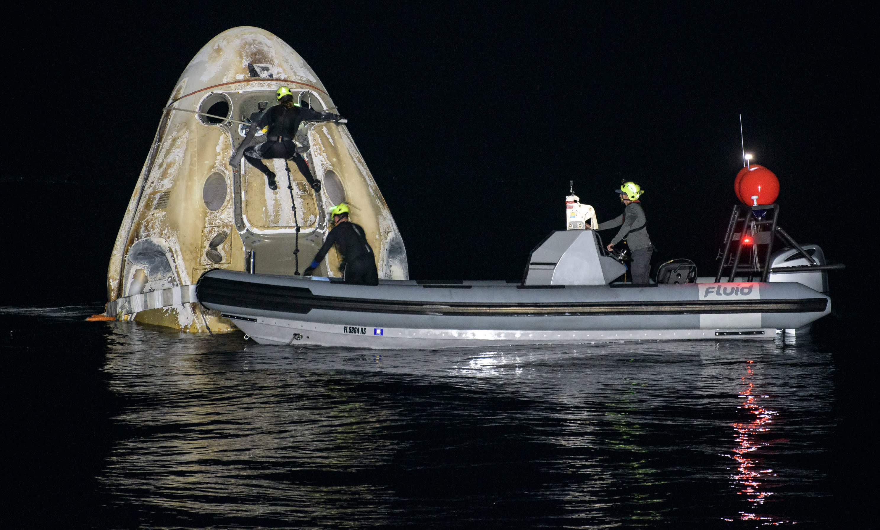 SpaceX Crew-1 mission splashes down with four astronauts after record mission for NASA