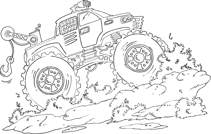 monster tow truck coloring page coloring com