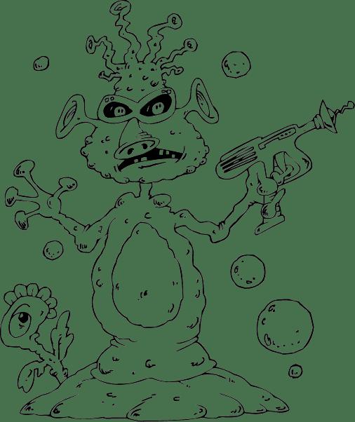 alien with raygun com