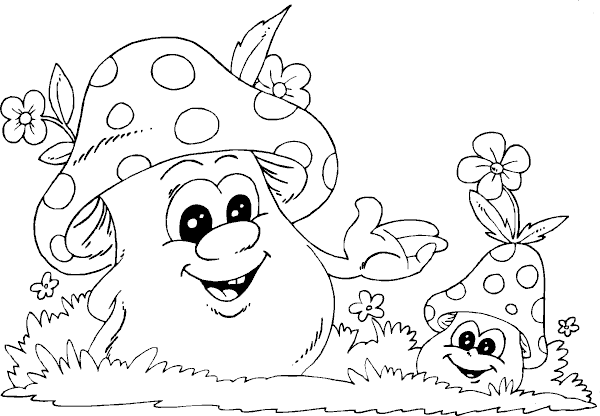 spring mushrooms coloring page coloring com