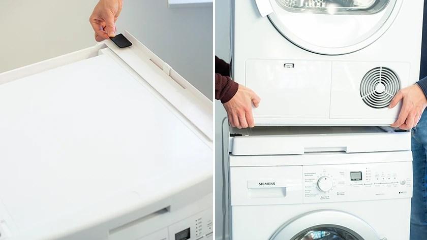Comment Poser Mon Seche Linge Sur Ma Machine A Laver Coolblue Avant 23 59 Demain Chez Vous