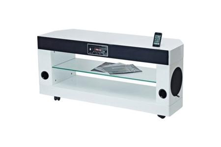 meubles tv soundvision sv 300w blanc
