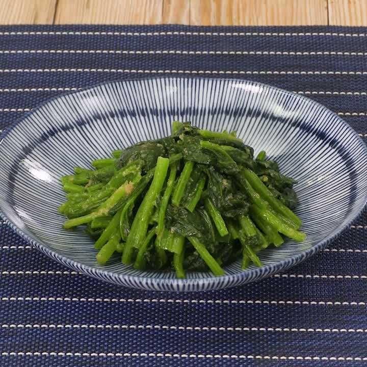 シャキシャキ食感! ほうれん草のナムルのレシピ動画・作り方 | DELISH KITCHEN