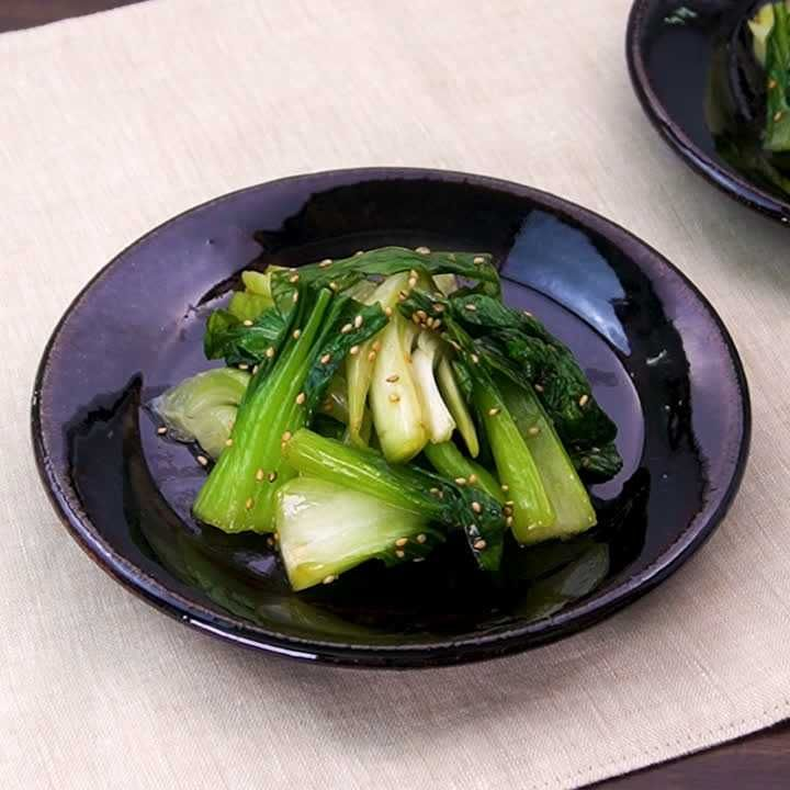 レンジでかんたん♪ チンゲン菜のめんつゆナムルのレシピ動画・作り方 | DELISH KITCHEN