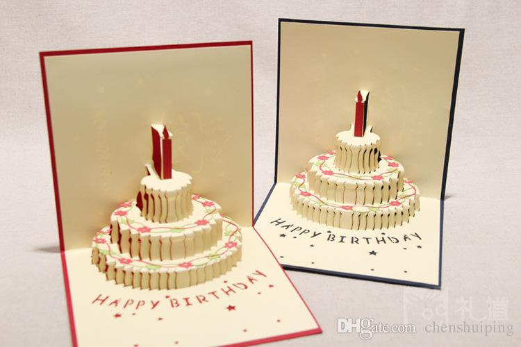 150mm150mm Birthday Cake 3d Pop Up Gift Amp Greeting 3d