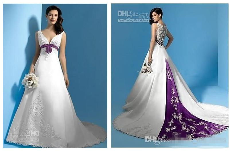 Discount 2015 Latest Design A Line Wedding Dresses Top