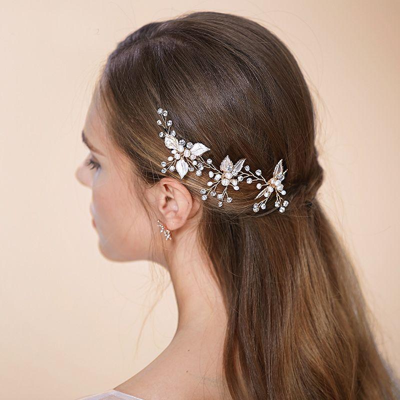 tiaras bobby pins bridal hair accessories petite leaf wedding hair pins u shape pin up for wedding brides girls tiaras for wedding sparkly hair accessories
