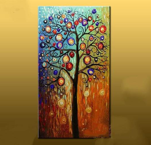 2018 Hand Painted Abstract Oil Painting Large Canvas Art Cheap Modern Tree Paintings Living Room Wall Pictures Home Decor From Dorapainting