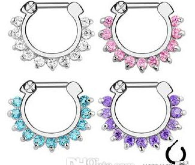 Best Hot Unique Zircon Aztec Septum Clicker Nose Ring Stud Nose Piercing Stud Body Jewelry Under   Dhgate Com