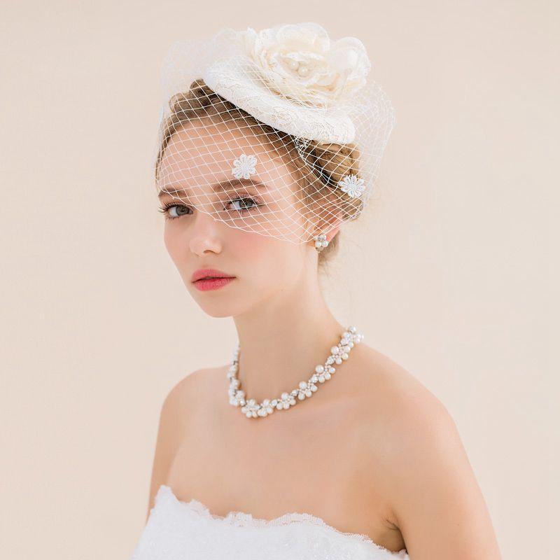 vintage wedding hair accessories fascinators with veil mesh lace flowers wedding headpieces vintage birdcage veil hair flowers hair accessories wedding cake
