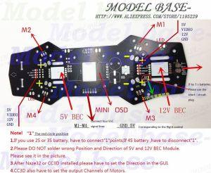 2018 Qav250 Zmr250 Naze32 Cc3d Apm Pdb Power Distribution Board For Qav250 Quadcopter From