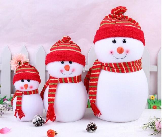 Outdoor Christmas Decochritmas Small Snowman With Colorful For Chrismas Decoration Cute Christmas Scene Decorations Santa Claus Snowman Xmas Christmas