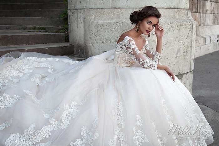 2018 Milla Nova Wedding Dresses Sheer Neck Long Sleeve