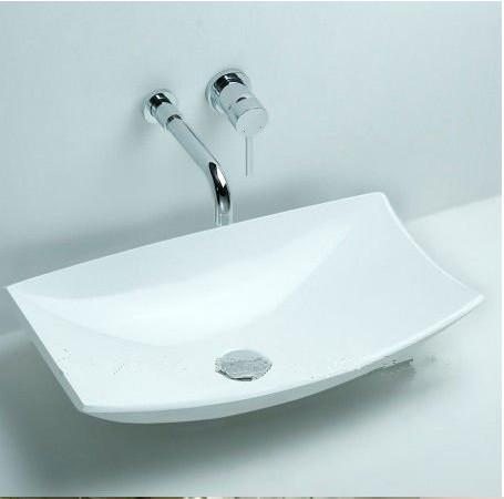 acheter lavabo vasque sous le comptoir en pierre de surface solide rectangulaire en pierre de salle de bains vestiaire a la mode mat blanc lavabo rs3828 de