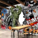 Avengers Photo Wallpaper Custom 3d Hulk Wallpaper Graffiti Wall     Avengers Photo Wallpaper Custom 3d Hulk Wallpaper Graffiti Wall Mural  Children Bedroom Living Room Office Tv Backdrop Super Hero Room Decor Xp  Wallpapers