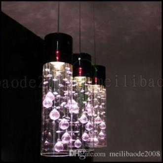 Glass Shade Crystal Ceiling Lighting Pendant Lamp Light X 3 Purple     Glass Shade Crystal Ceiling Lighting Pendant Lamp Light X 3 Purple Clear  Llwa226 Bathroom Pendant Lighting Plug In Hanging Lamps From  Meilibaode2008