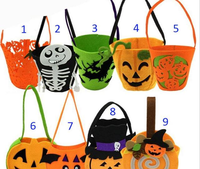 Children Halloween Xmas Pumpkin Ghost Bags New  Style Boy Girl Cute Party Pumpkin Halloween Candy Bag Non Woven Gift Bags B Toddler Handbags Personalised