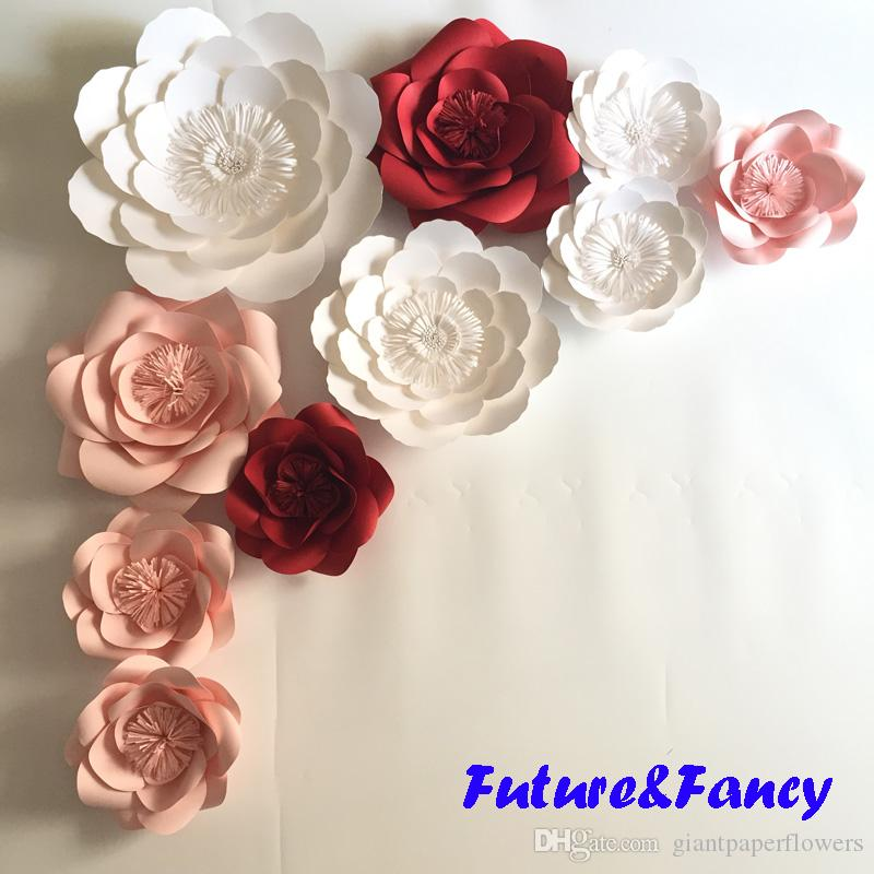 Mix Colors Giant Paper Flowers For Wedding Backdrops Decorations     Mix Colors Giant Paper Flowers For Wedding Backdrops Decorations Kid s Room  Deco Showcase Windows Display Deco Mix Flower Styles Giant Paper Flowers  Paper