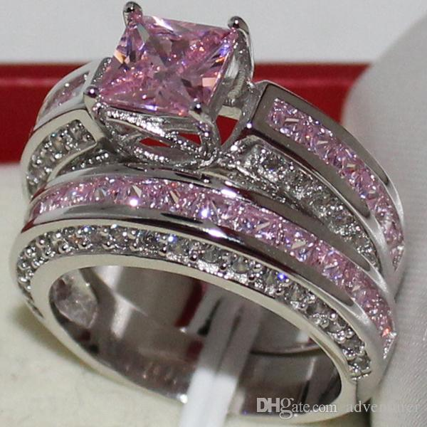 2019 Eternity LadyS 925 Sterling Silver Square Simulated