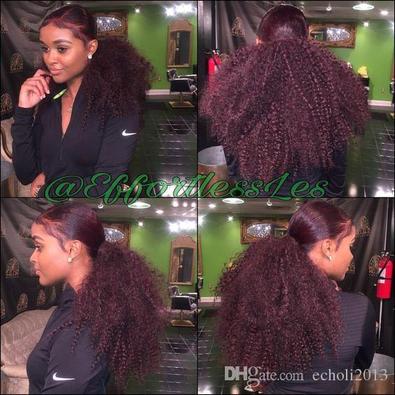 Dora Afro Kinky Curly Human Hair Ponytail Extensions Kinky